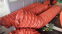 红色硅胶布方形高温软连接价格