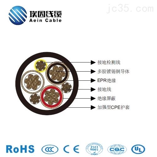 三芯圆形移动电力CPE电缆3*250