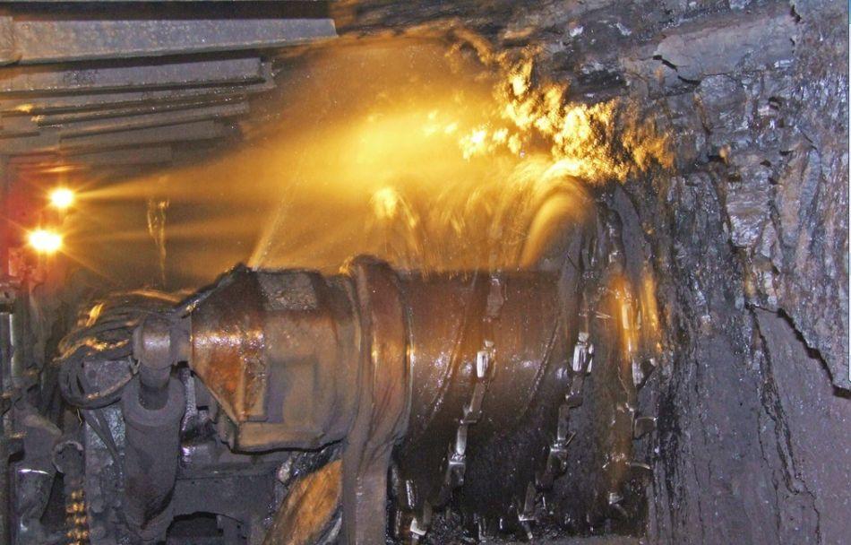 采煤机工作